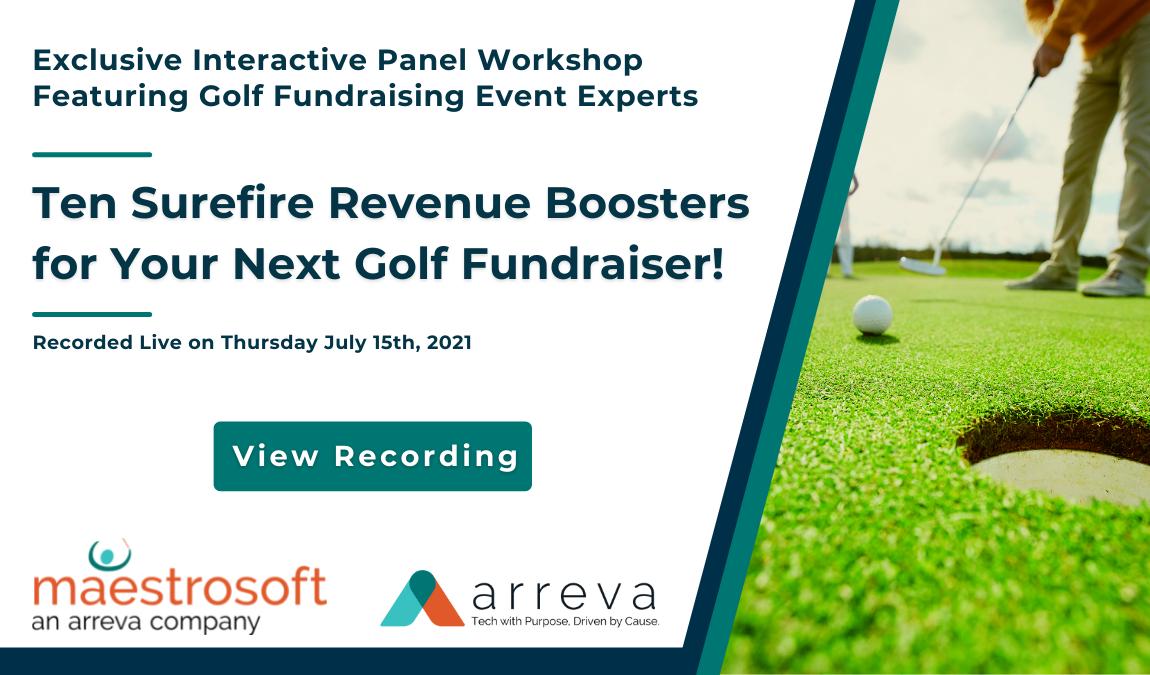 Recording  Ten Surefire Revenue Boosters for Your Next Golf Fundraiser!